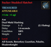 Sucker Studded Hatchet