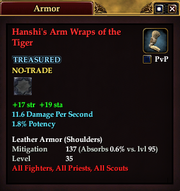 Hanshi's Arm Wraps of the Tiger