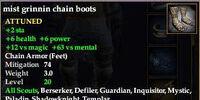 Mist grinnin chain boots