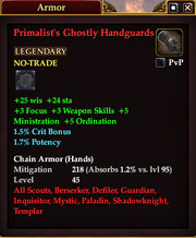 Primalist's Ghostly Handguards