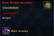 Rune Recipe- Accuracy