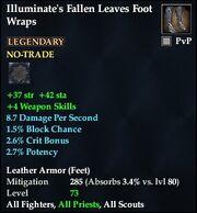 Illuminate's Fallen Leaves Foot Wraps