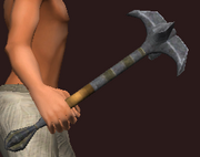 Imbued Iron War Mace (Equipped)