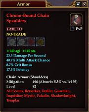 Chrono-Bound Chain Spaulders