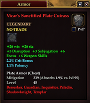 Vicar's Sanctified Plate Cuirass