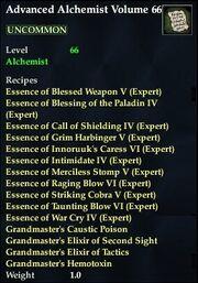 Advanced Alchemist Volume 66