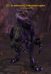An ambushing withertalon raptor