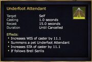 Ability underfoot attendant