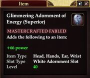 Glimmering Adornment of Energy (Superior)