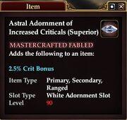 Astral Adornment of Increased Criticals (Superior)