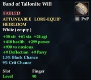 Band of Tallonite Will