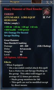 Heavy Hammer of Hard Knocks