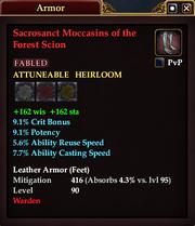 Sacrosanct Moccasins of the Forest Scion