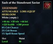 Sash of the Stonebrunt Savior