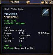 Dark Water Epee
