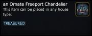 An Ornate Freeport Chandelier win
