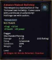 Zatozia's Stained Bullwhip