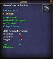 Woven Cuffs of the Sun