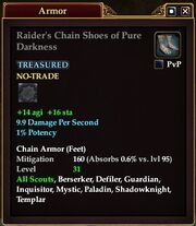 Raider's Chain Shoes of Pure Darkness