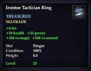 Irontoe Tactician Ring