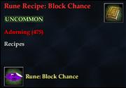 Rune Recipe- Block Chance