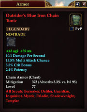 Outrider's Blue Iron Chain Tunic