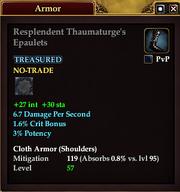 Resplendent Thaumaturge's Epaulets