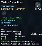 Wicked Axe of Rites