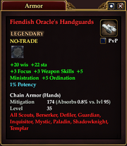 Fiendish Oracle's Handguards