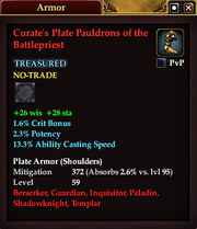 Curate's Plate Pauldrons of the Battlepriest