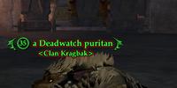 A Deadwatch puritan