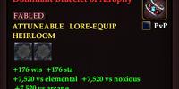 Dominant Bracelet of Atrophy