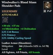 Windwalker's Blood Moon Shoulder Pads