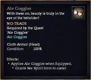 Ale Goggles (Equip)