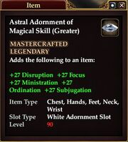 Astral Adornment of Magical Skill (Greater)