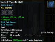 Carved wizards staff