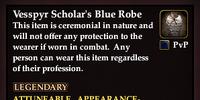 Vesspyr Scholar's Blue Robe