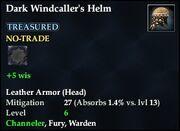 Dark Windcaller's Helm