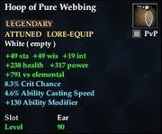 Hoop of Pure Webbing
