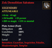 Zek Demolition Sabatons