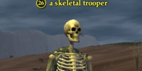 A skeletal trooper