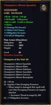 Champion's Mirror Epaulets
