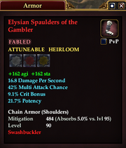 Elysian Spaulders of the Gambler