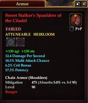Forest Stalker's Spaulders of the Citadel