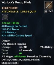 Warlock's Runic Blade