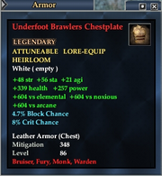 Underfoot Brawlers Chestplate