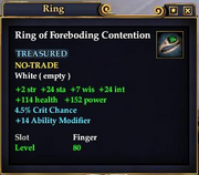 Ring of Foreboding Contention