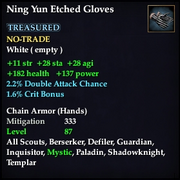 Ning Yun Etched Gloves