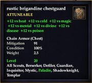 Rustic brigandine chestguard