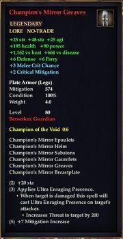 Champion's Mirror Greaves